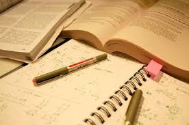 Foto van studieboeken